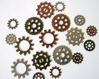 18 Steam Punk Mixed Gogs & Gears Charms