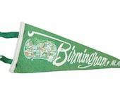 Vintage Birmingham, Alabama Felt Flag Banner