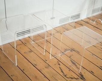 Vintage Retro Lucite Side Tables