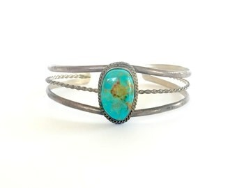 Vintage Silver and Turquoise Bracelet Native American
