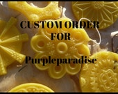 Custom Order for Purpleparadise - 18 Natural beeswax ornaments
