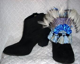 Elegant Feather Boot Wraps