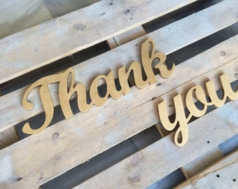 Photo Prop Gold Wedding Thank You Sign, Thank you photo prop, thank you wooden letters, BIG Thank you wedding photo prop. Wedding signs
