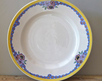 1930 Art Deco French Antique  Fruit Dish or Cake Dish Boch Frères Cake Stand french plate