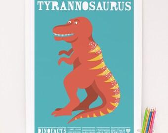 Tyrannosaurus dinosaur Print