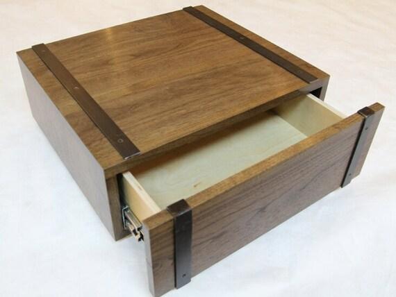 Sanddrift floating nightstand w steel detail by moderndrift for Floating nightstand