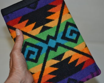 iPad mini 1 2 3 4 Sleeve case cover - Coyote Butte Wool from Portland Oregon - electronics cases rainbow colors Native American design