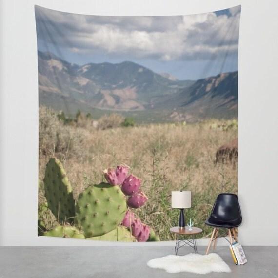 Home Decor Stores Utah: Desert Wall Tapestry Utah Wall Art Cactus Tapestry Moab