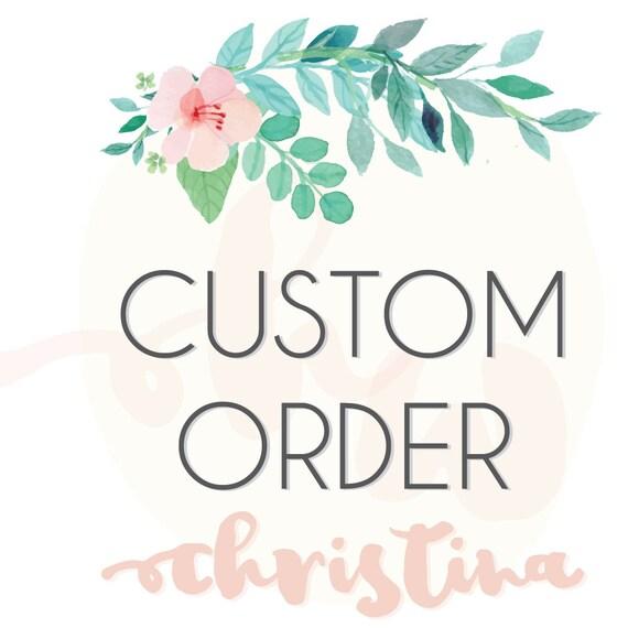 Custom Order - Christina (printable) - Flow Chart Save The Date