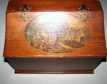 Vintage Collectible Wooden Box