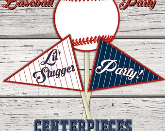 Baseball Party Centerpiece, Baseball Birthday Party, Baseball Baby Shower, Table decor, decorations, centerpieces, Baseball Birthday