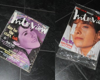 UNOPENED Interview Magazine February 1995 and Jan 1994 Ricki Lake, Beatlemania, Federico Fellini, Bruce Weber