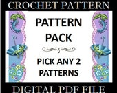 2 Crochet Patterns - Bundle Pack - PDF Files - Permission to Sell Finished Items
