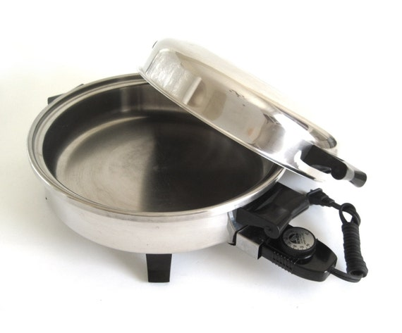 New Era Oil Core Electric Skillet Stainless Steel Frying Pan