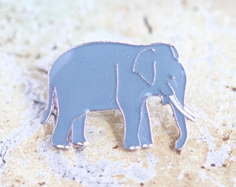 Grey Elephant Badge - Wildlife Lapel Pin