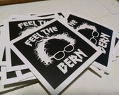 "TEN 2"" x 2"" Bernie Stickers"
