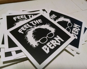 "TEN 2"" x 2"" Bernie Stickers"