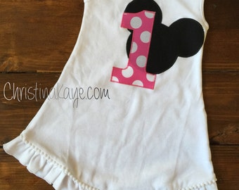 Minnie Mouse first birthday dress size 18 months READY TO SHIP