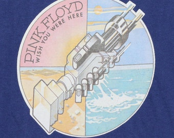 Pink Floyd Wish You Were Here Shirt 1970s Vintage Tshirt Concert Rock Rare 70s