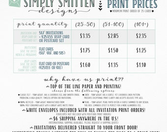 Print Prices (DO NOT PURCHASE)