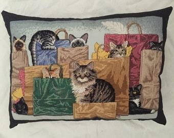 Cat Bag Ladies Pillow