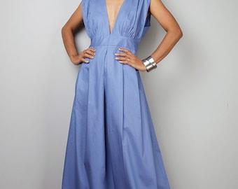 Blue Dress , Bridesmaid Dress, Maxi Dress, Long Blue Dress, Summer Dress  : Oriental Secrets Collection II