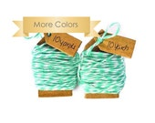 Mint Bakers twine soft cotton floss. READY TO SHIP | Choose your color 20 yards string for crafts, gift wrap,packaging or scrapbooks