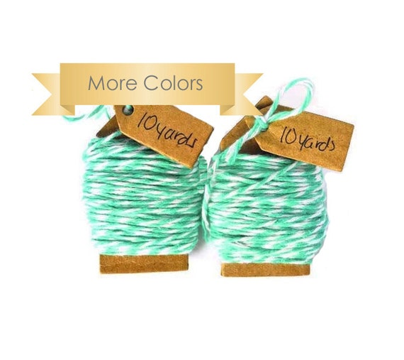 READY TO SHIP | Mint Bakers twine soft cotton floss. Choose your color 20 yards string for crafts, gift wrap,packaging or scrapbooks