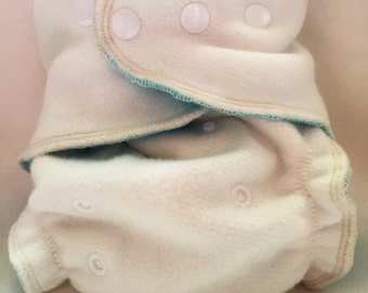 Organic Bamboo/Cotton Velour One Size Fitted Diaper