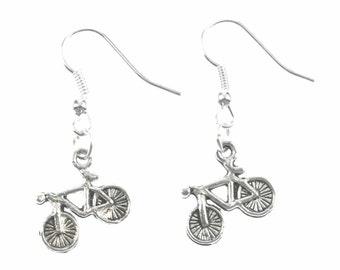 OR00045 Bicycle earrings bicycle bike bikes Miniblings earrings cycling cycling silver