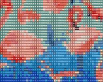 Flamingo Loom Cuff Pattern