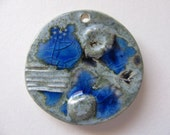 Blue Waters Sea Pendant Stoneware Clay