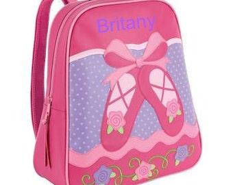 Personalized Girls Backpack Stephen Joseph GoGo Ballet NEW