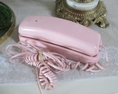 Pink phone shabby pink wall mount phone princess pink phone shabby pink room baby nursery phone girl's bedroom phone pink princess phone