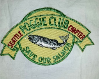 Vintage Jacket Patch Seattle Poggie Club