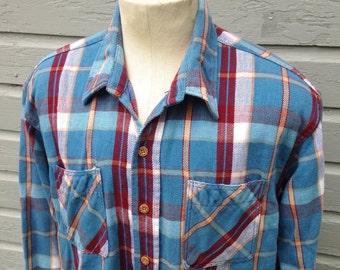 Vintage Big Mac flannel shirt, XL Tall