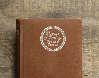Vintage poetry book 1930s Poems of Today