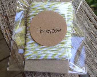 10 Yards - The Twinery  Baker's  Twine / String • 100% Cotton • Eco Friendly • Gift Wrap • Bakery String • Made In The US • Honeydew