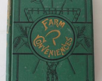 antique book, Farm Conveniences, 1884,back to the land,farming impliments animal husbandry, from Diz Has Neat Stuff
