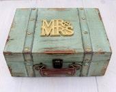Wedding Card Box Trunk First Fight Box Love Letter Ceremony Anniversary Rustic Shabby Chic Vintage Wedding Custom ( MEDIUM)