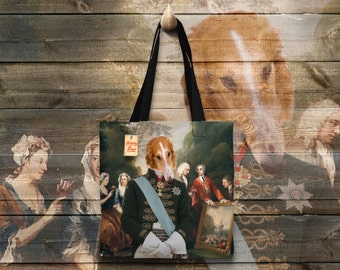 Dog Tote Bag - Borzoi Tote Bag - Borzoi Art - Borzoi Gifts - Borzoi   Perfect DOG LOVER Gift for Her Gift for Him
