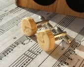 Handmade Oak Flower Cuff Links