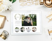 Premade Website and Blog Template- Photographer, Shop, Event Planner - WIX