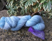 "100grms hand painted merino/nylon yarn "" Rainy sky's  """