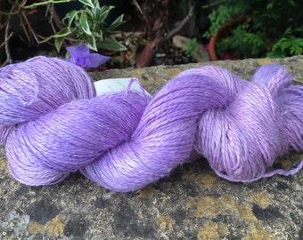"""100grms hand painted alpaca/silk/linen yarn DK weight """" lilacs"""