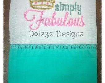 Simply Fabulous burp rag