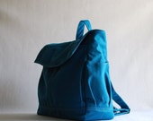 Back To School SALE - 30% HUGO Unisex Backpack in Teal (Water Resistant)  Laptop / Diaper Bag/ Satchel / Rucksack