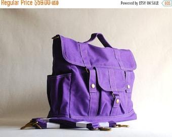 NEW YEAR SALE 30% - Pico2 BackPack Convertible in Purple (Water Resistant) Unisex / Laptop / Shoulder Bag / Satchel / Rucksack / Messenger B