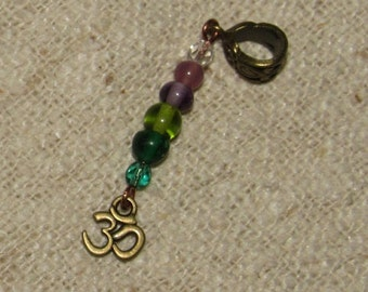 Dreadlock Bead Ohm Om Omh Dreads Cuff Wrap Bohemian Dreadlock Jewelry Jewellery Dangle Dread Beads Tribal Hippie Hippy Festival Boho Hair