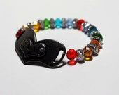 Rainbow with Love- LGBT Gay and Lesbian Pride Heart Bracelet